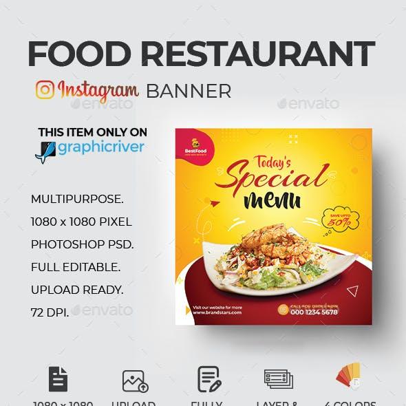Food Menu Social Media Template
