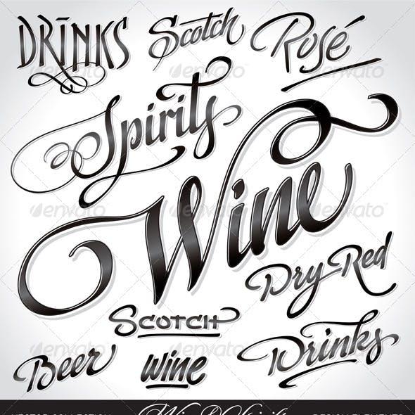 Wine & Spirits Headlines Set