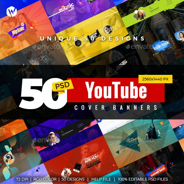50 YouTube Cover Banners