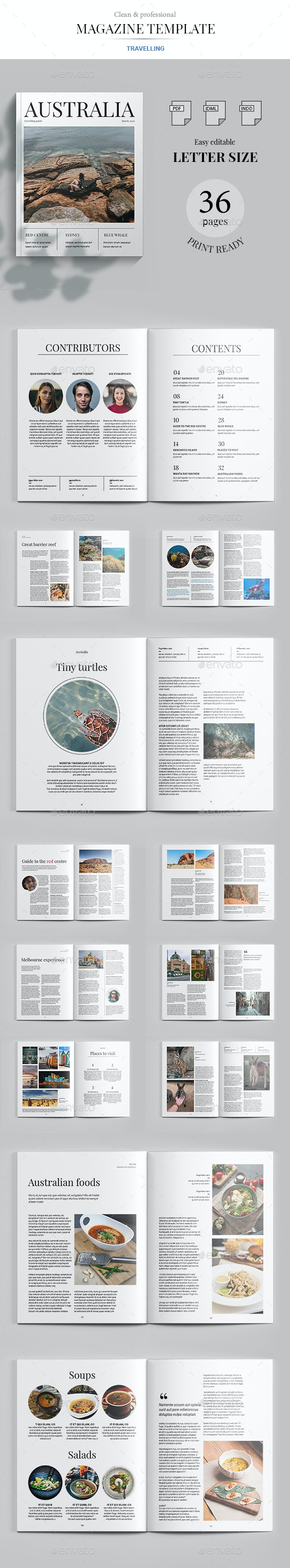 Australia Magazin Template - Magazines Print Templates