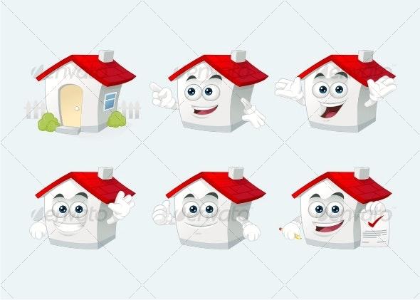 Home Mascot - Characters Vectors
