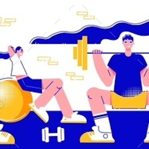 Fitness Horizontal Banner