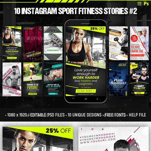 Instagram Sport Fitness Stories