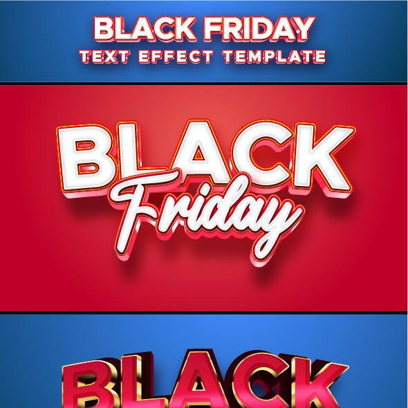 Black Friday Text Effect for Illustrator