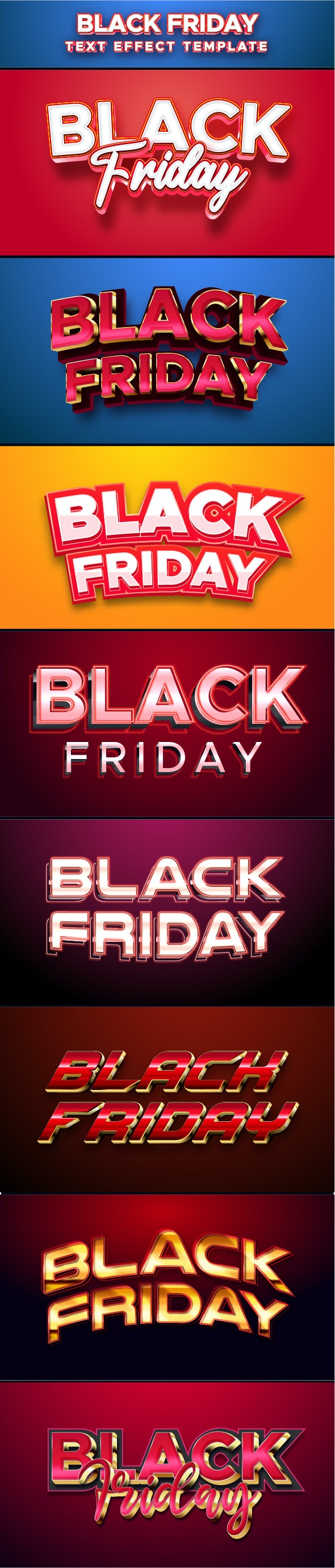 Black Friday Text Effect for Illustrator - Styles Illustrator