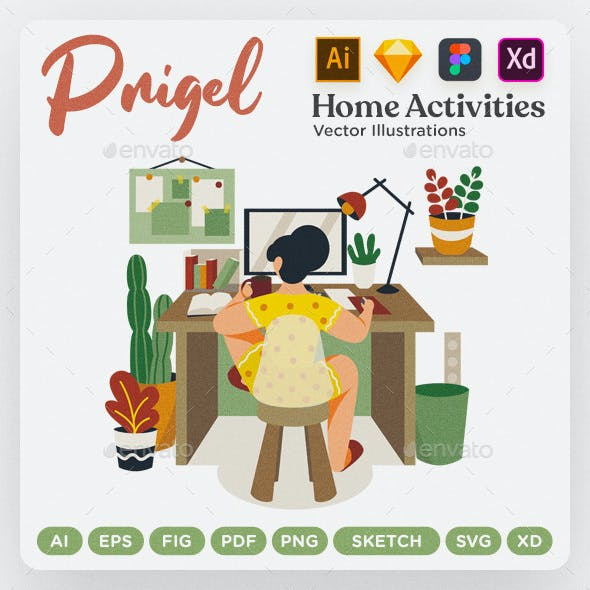 Prigel - Home Activity Modular Scenes