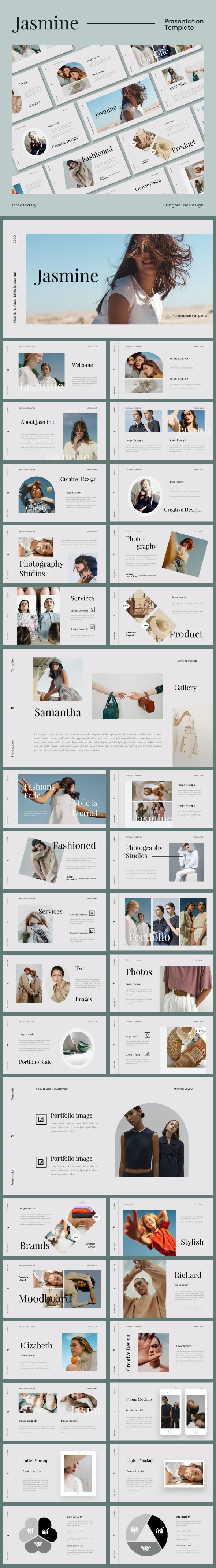 Jasmine Fashion Google Slides Pptx - Google Slides Presentation Templates