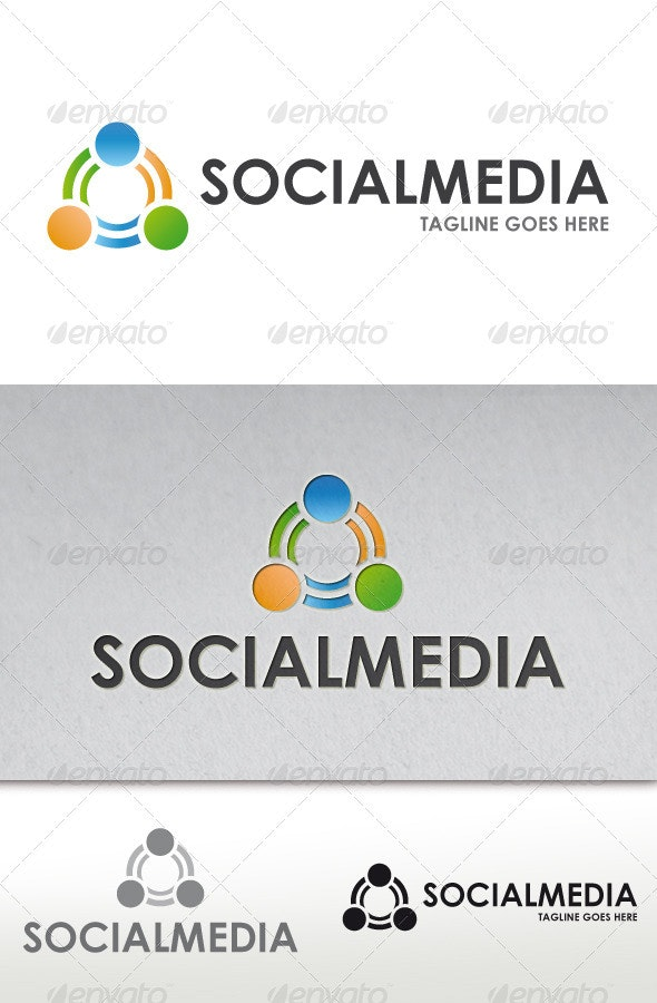 Social Media Logo - Vector Abstract