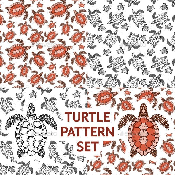 Set of Decorative Graphic Vector Seamless Pattern