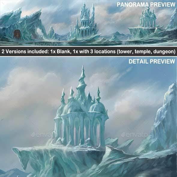 Frozen Wasteland Exterior - Game Background
