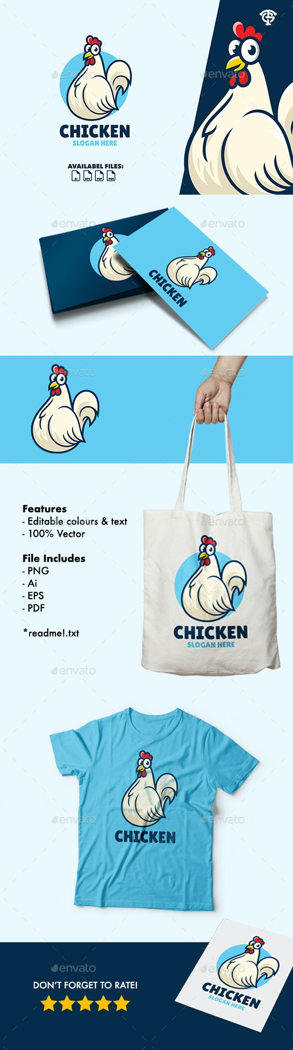 Chicken - Logo Mascot - Animals Logo Templates