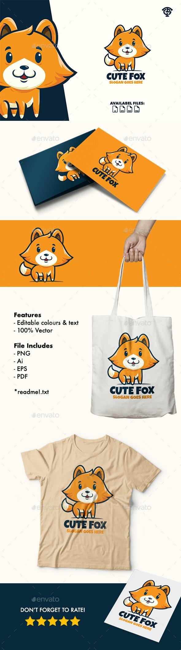 Cute Fox - Logo Mascot - Animals Logo Templates