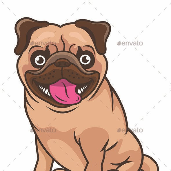 Pug Dog Cartoon