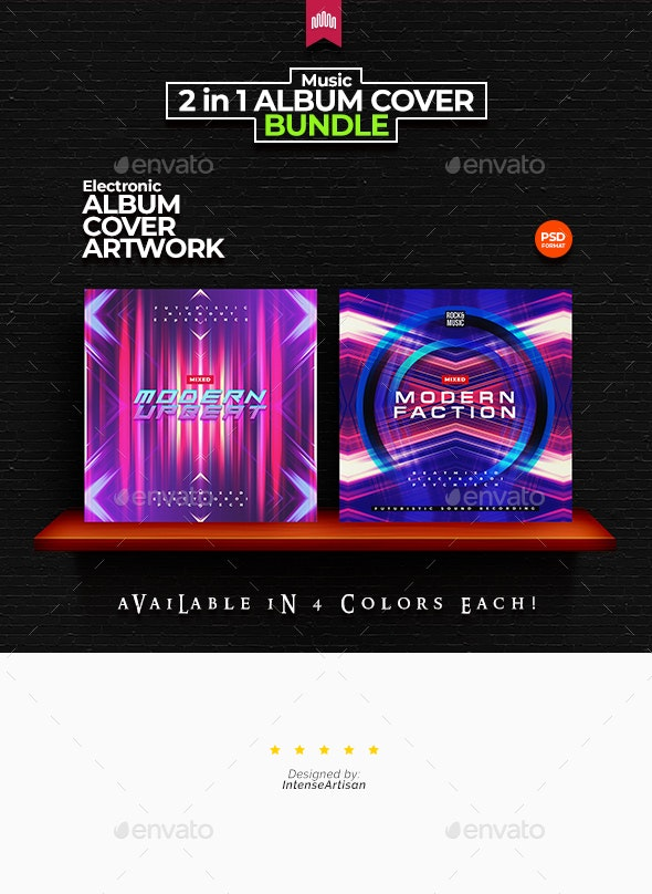 2in1 Music Album Cover - Bundle 23 - Miscellaneous Social Media
