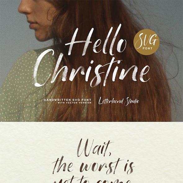 Hello Christine - SVG Font