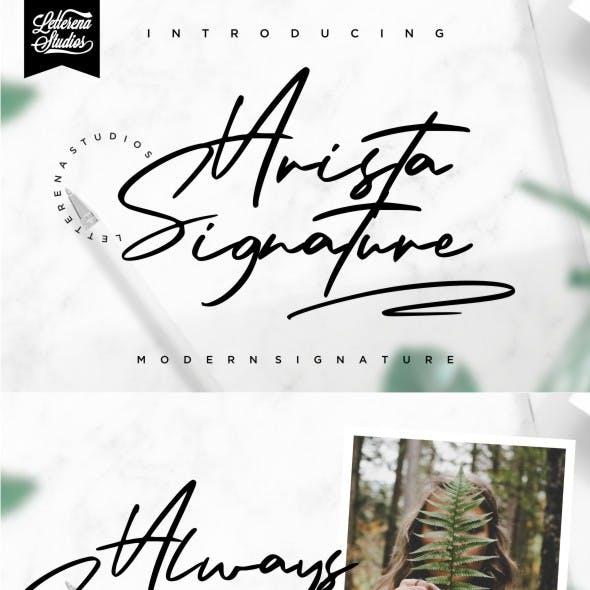 Arista Signature - Modern Signature Font