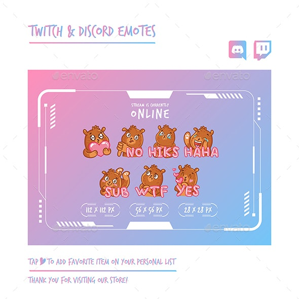 Bear Twitch Emotes Chibi Emotes Cute Emotes Kawaii Emotes Funny Emotes Discord Emotes - Characters Vectors