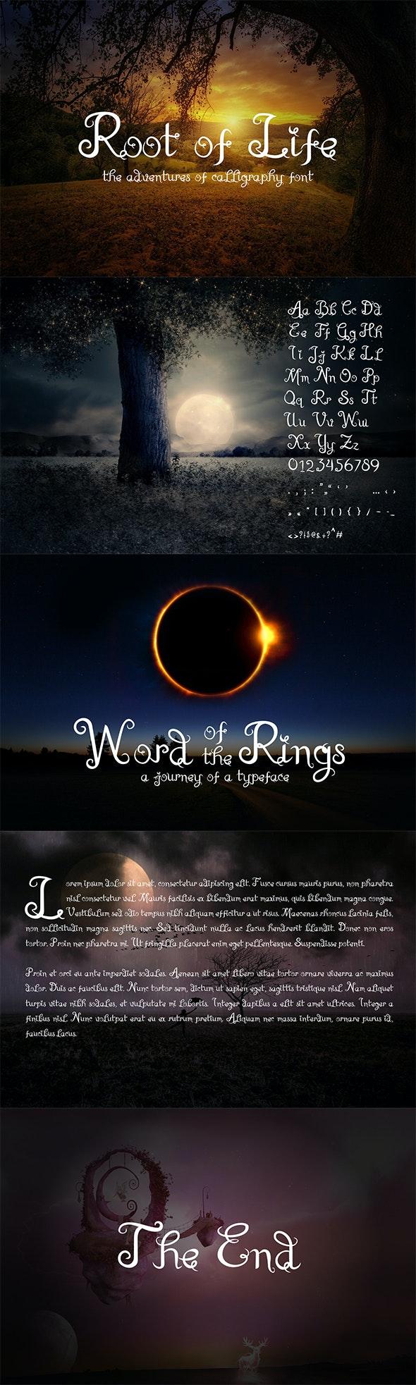 Root Of Life - Calligraphy Script