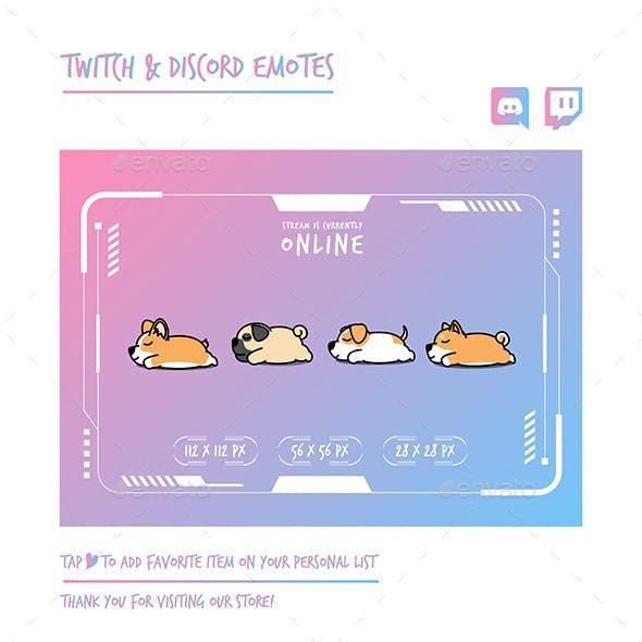 Dog Twitch Emotes Chibi Emotes Cute Emotes Kawaii Emotes Funny Emotes Discord Emotes