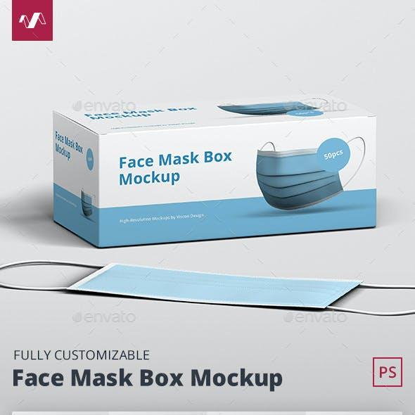 Face Mask Box Mockup