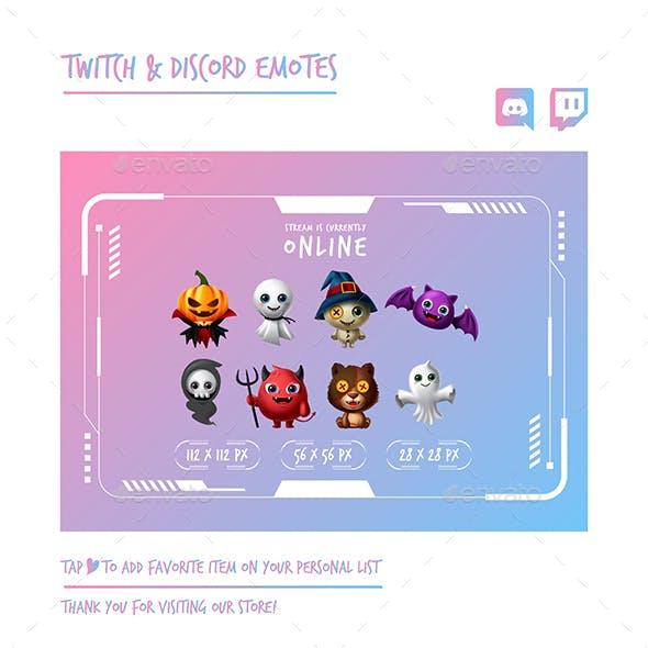 Halloween Twitch Emotes Chibi Emotes Cute Emotes Kawaii Emotes Funny Emotes Discord Emotes