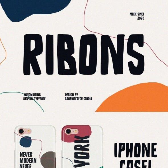 Ribons – A Handwriting Display Font