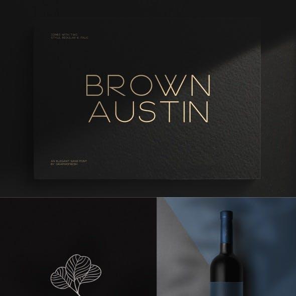 Brown Austin - Modern Sans Serif
