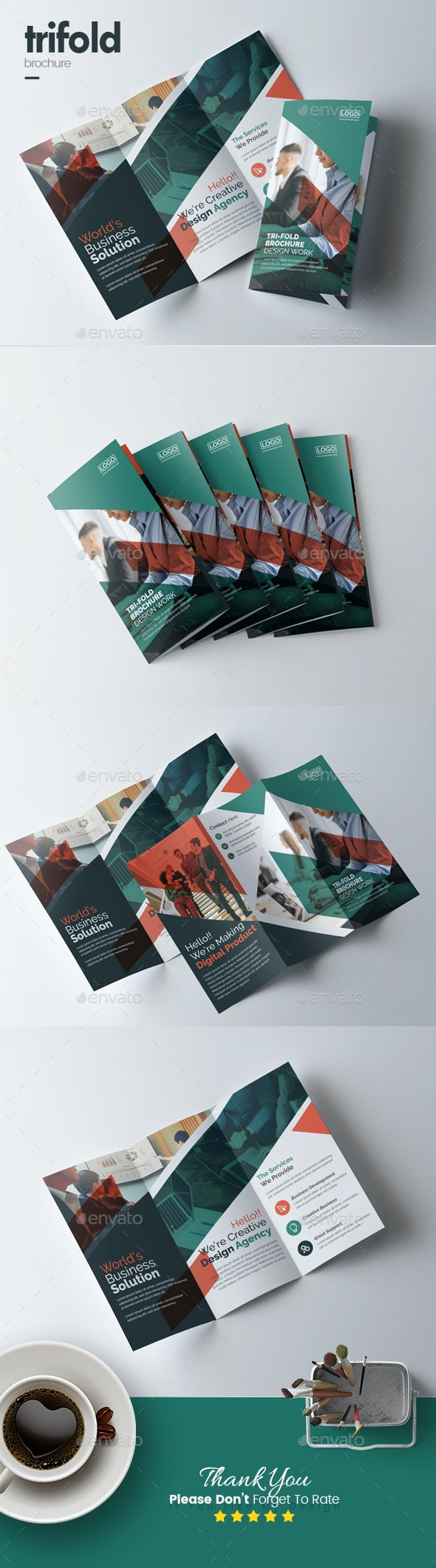 Trifold Business Brochure - Corporate Brochures