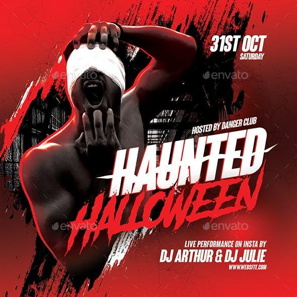 Haunted Halloween Party Flyer