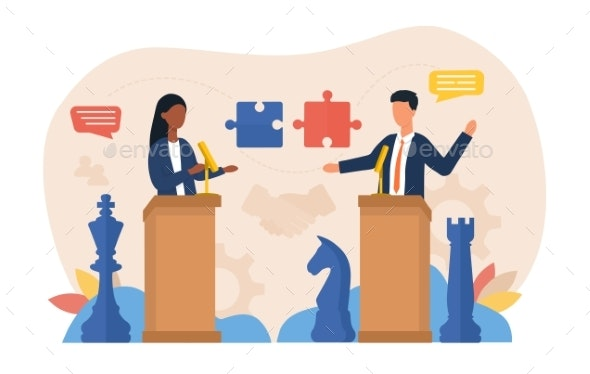 Abstract Negotiations Concept - Business Conceptual