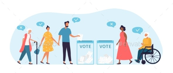Voting Concept, People of Different Nationalities - People Characters