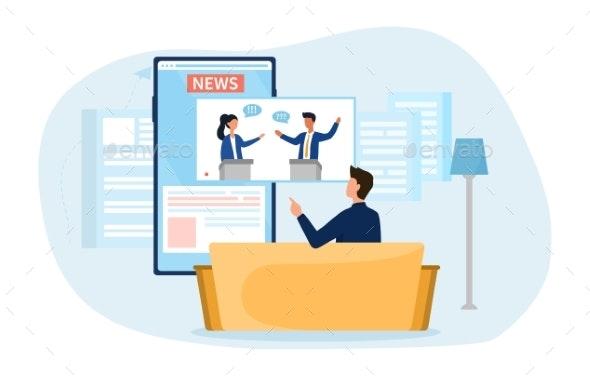 Political News Concept - Technology Conceptual