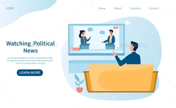 Political News Concept - People Characters