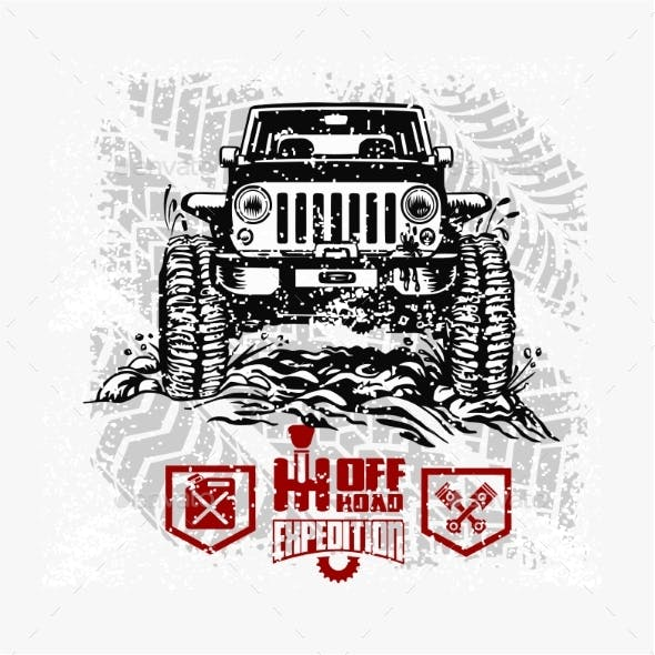 Jeep Wrangler - Suv Car on White - Elements for