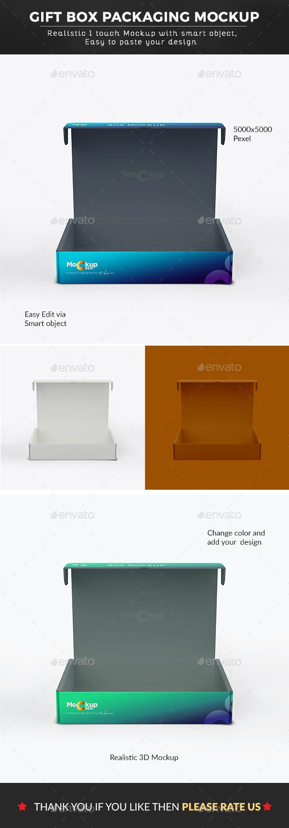 Open Box Packaging Mockup - Backgrounds Graphics