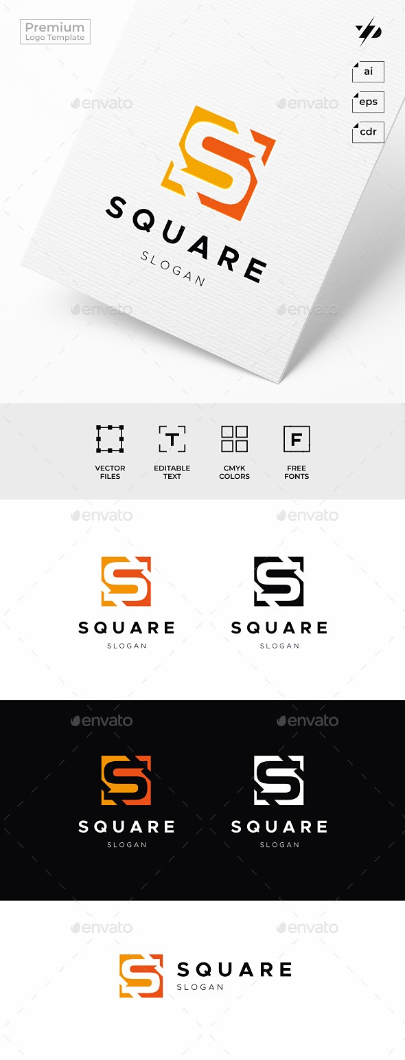 Square Letter S Logo - Letters Logo Templates