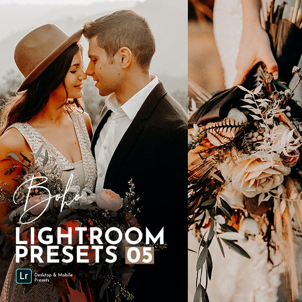 Boho Wedding Lightroom Presets Pack
