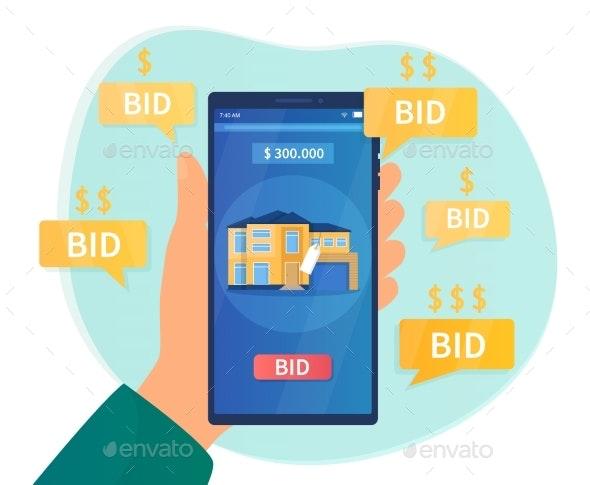 Online Auction Concept - Buildings Objects