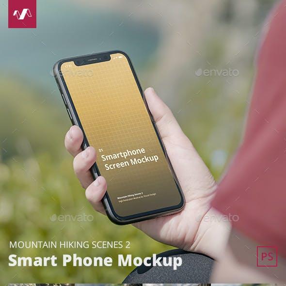 Phone Mockup Mountain Hiking Scenes 2