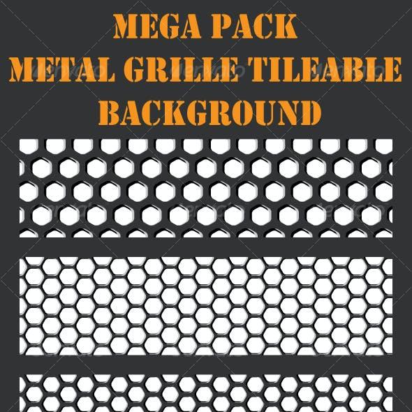 Grille Metal Backgrounds - Mega Pack - 17 patterns