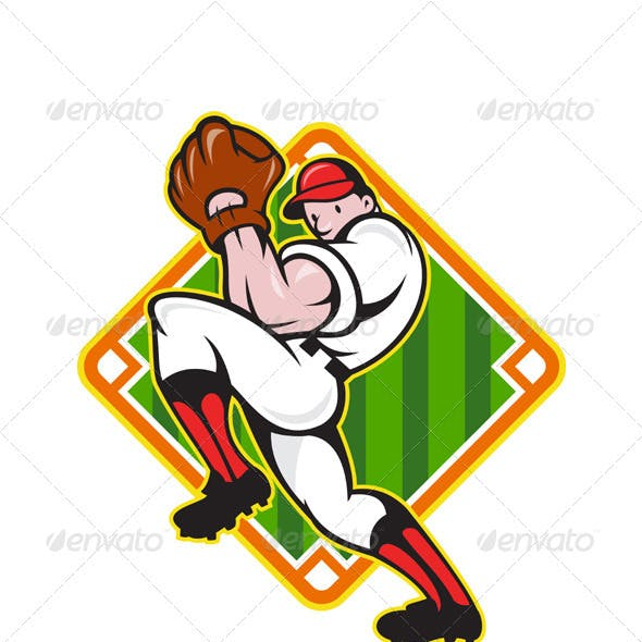 Baseball Pitcher Player Pitching Diamond