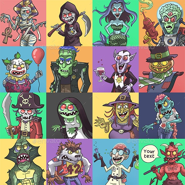 Monster Pack - Characters Illustrations