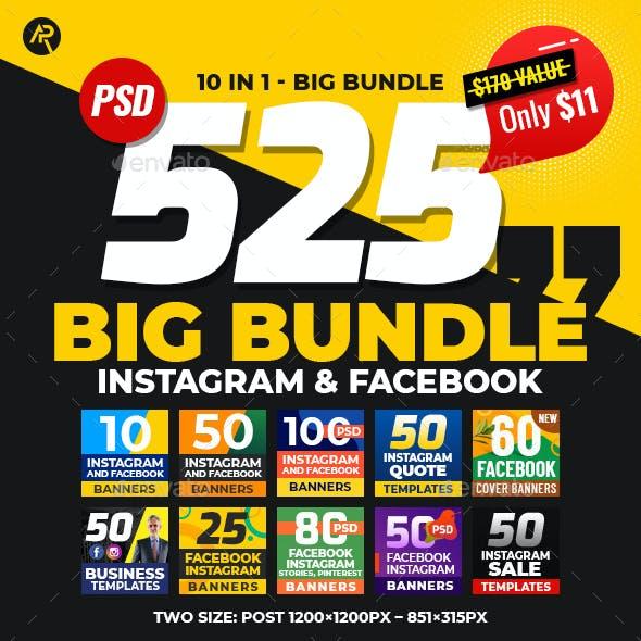 525 Instagram & Facebook Big Banner Bundle
