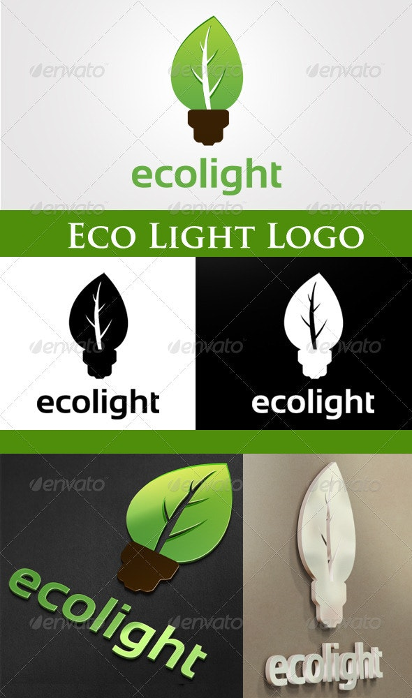 Eco Light Logo - Nature Logo Templates