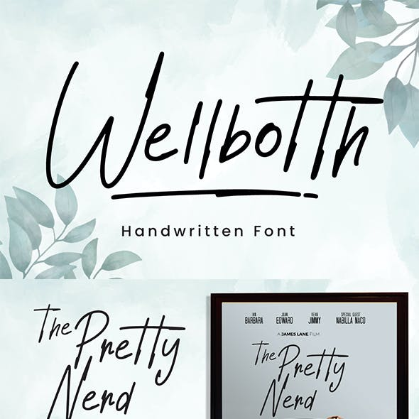 Wellbotth - Handwritten Font