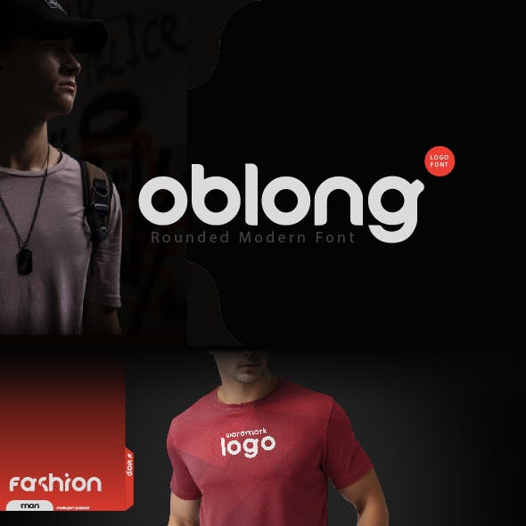 oblong   rounded modern logo font