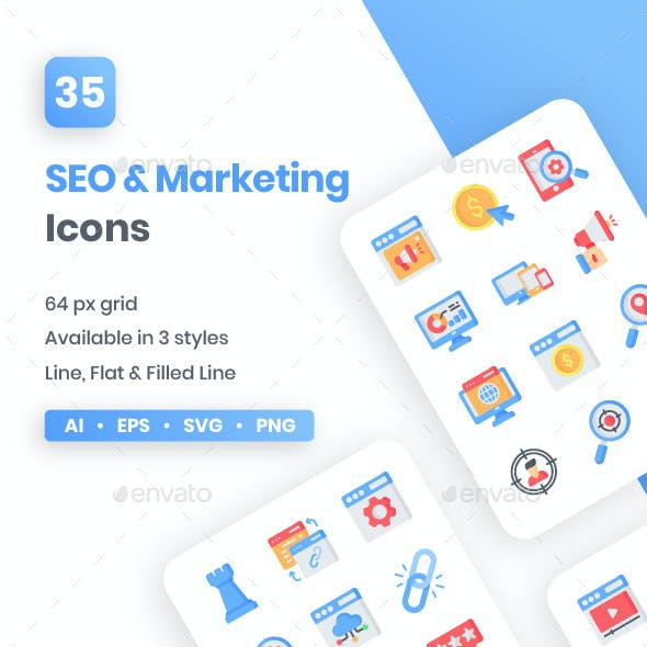 SEO & Marketing Icons