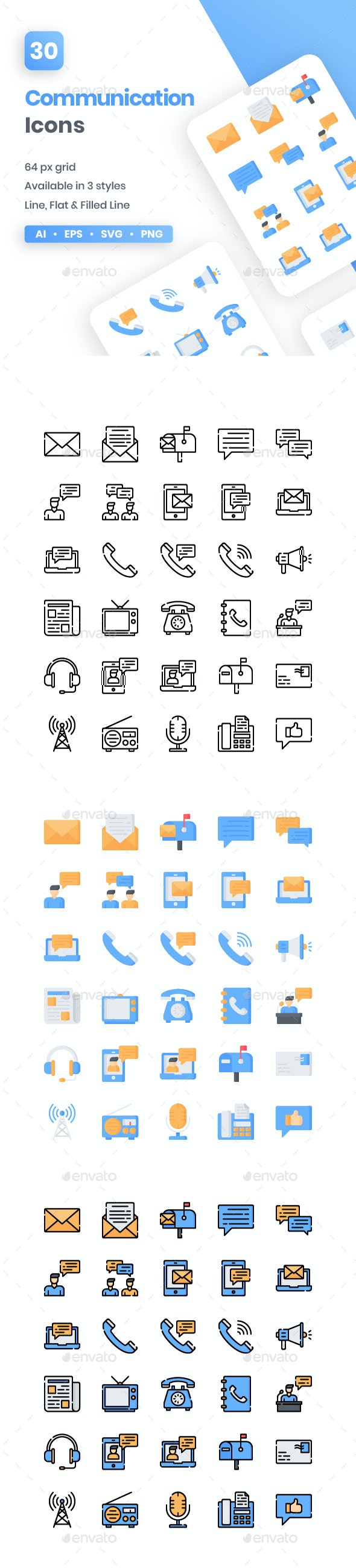 Communication Icons - Media Icons