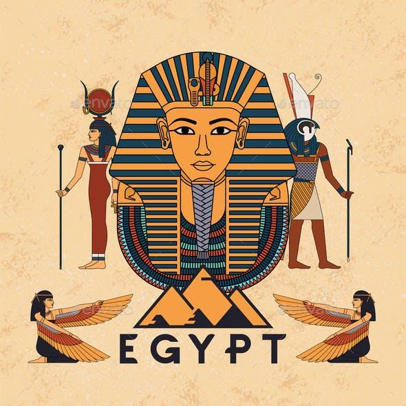 Vector Illustration Symbols of Ancient Egypt