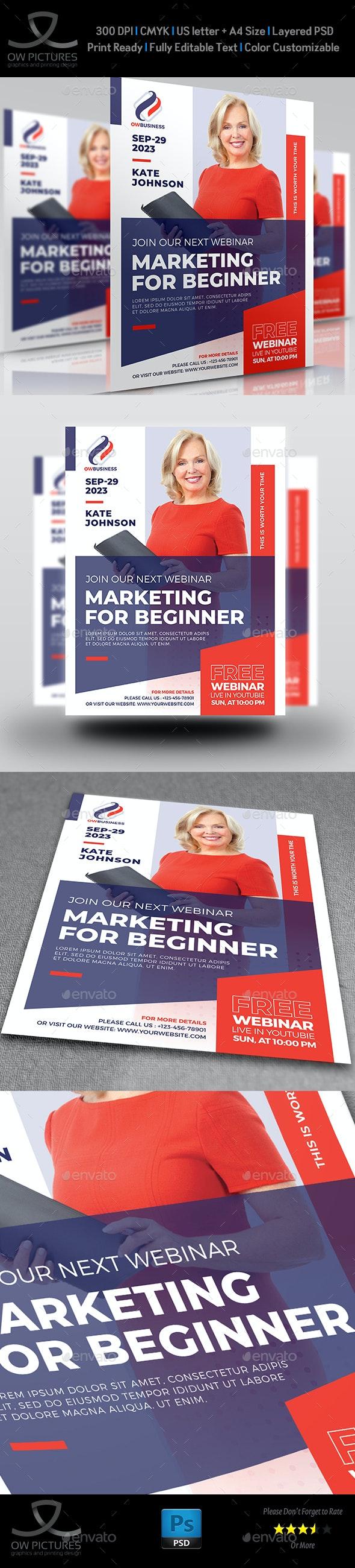 Webinar Flyer - Seminar Flyer Template - Flyers Print Templates